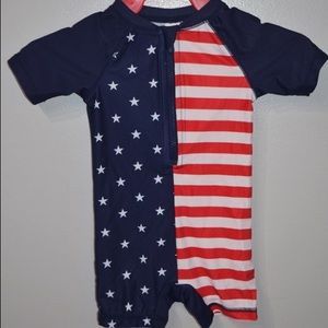 Cute 4th of July swimmer suit by Old Navy 12-18 mo